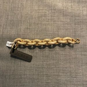 JCrew Pave Link Bracelet